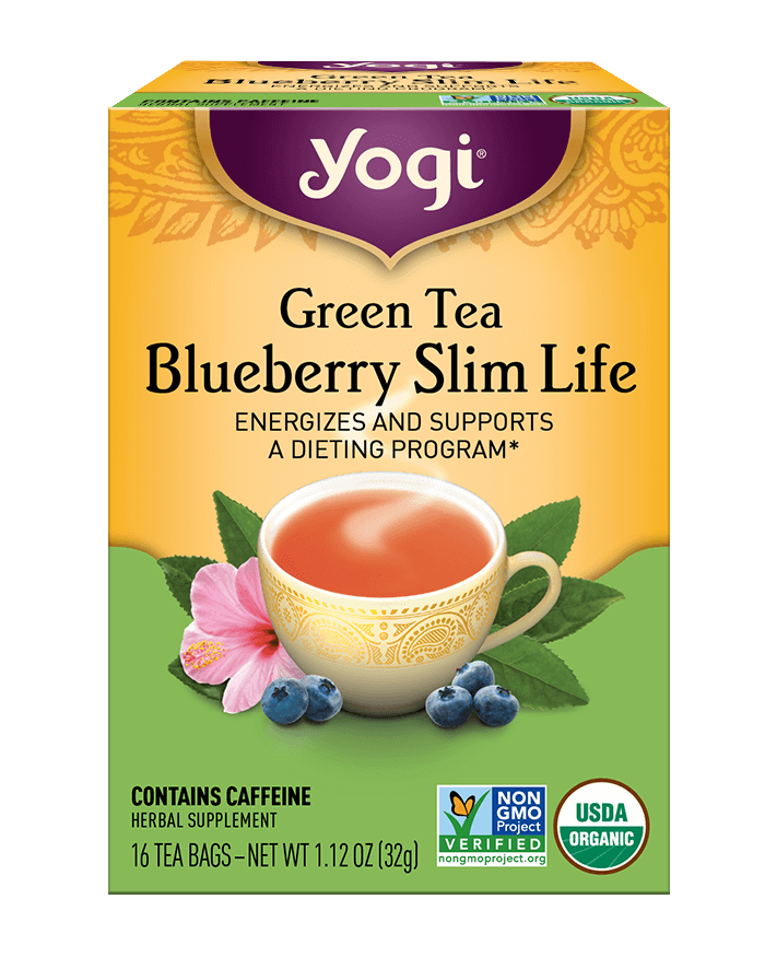 Green Tea <br />Blueberry Slim Life Tea