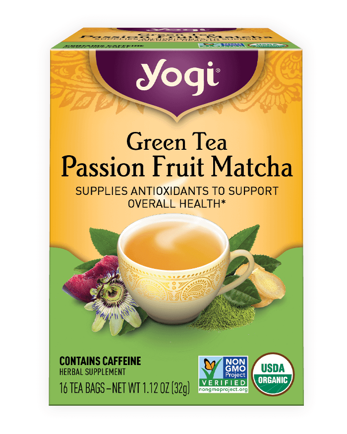 Green Tea Passion Fruit Matcha Tea